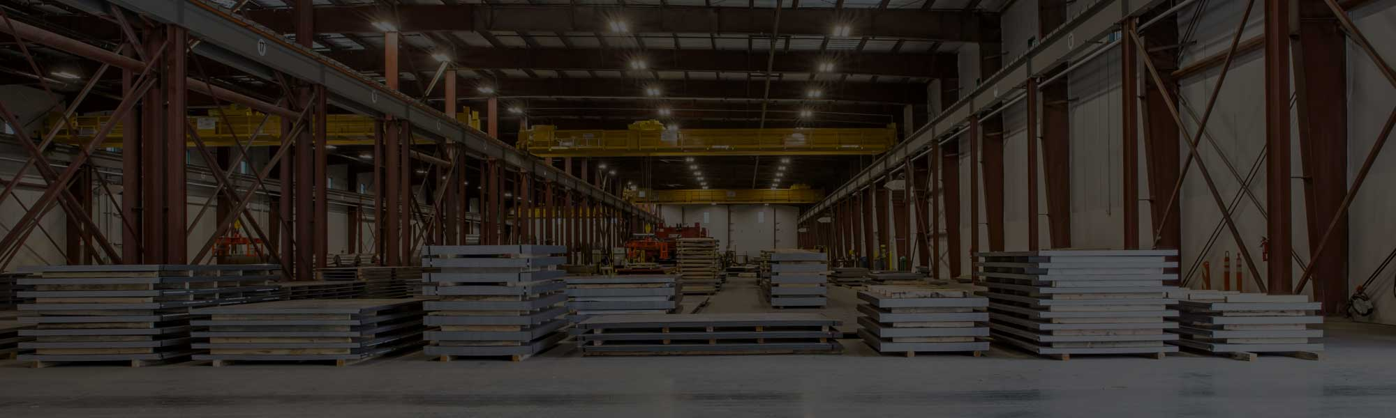 inside of a steel distribution warehouse