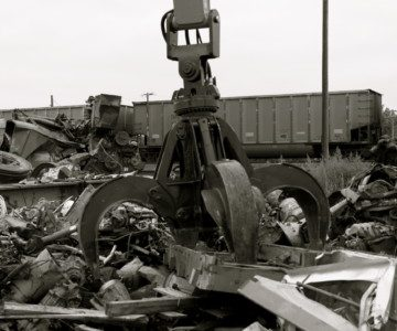 metal scrap yard recycling