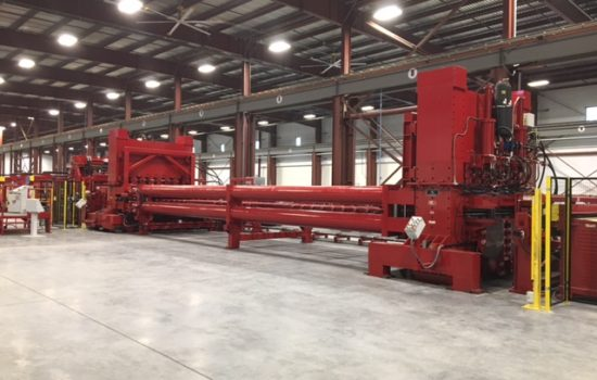 end of a coil line machine