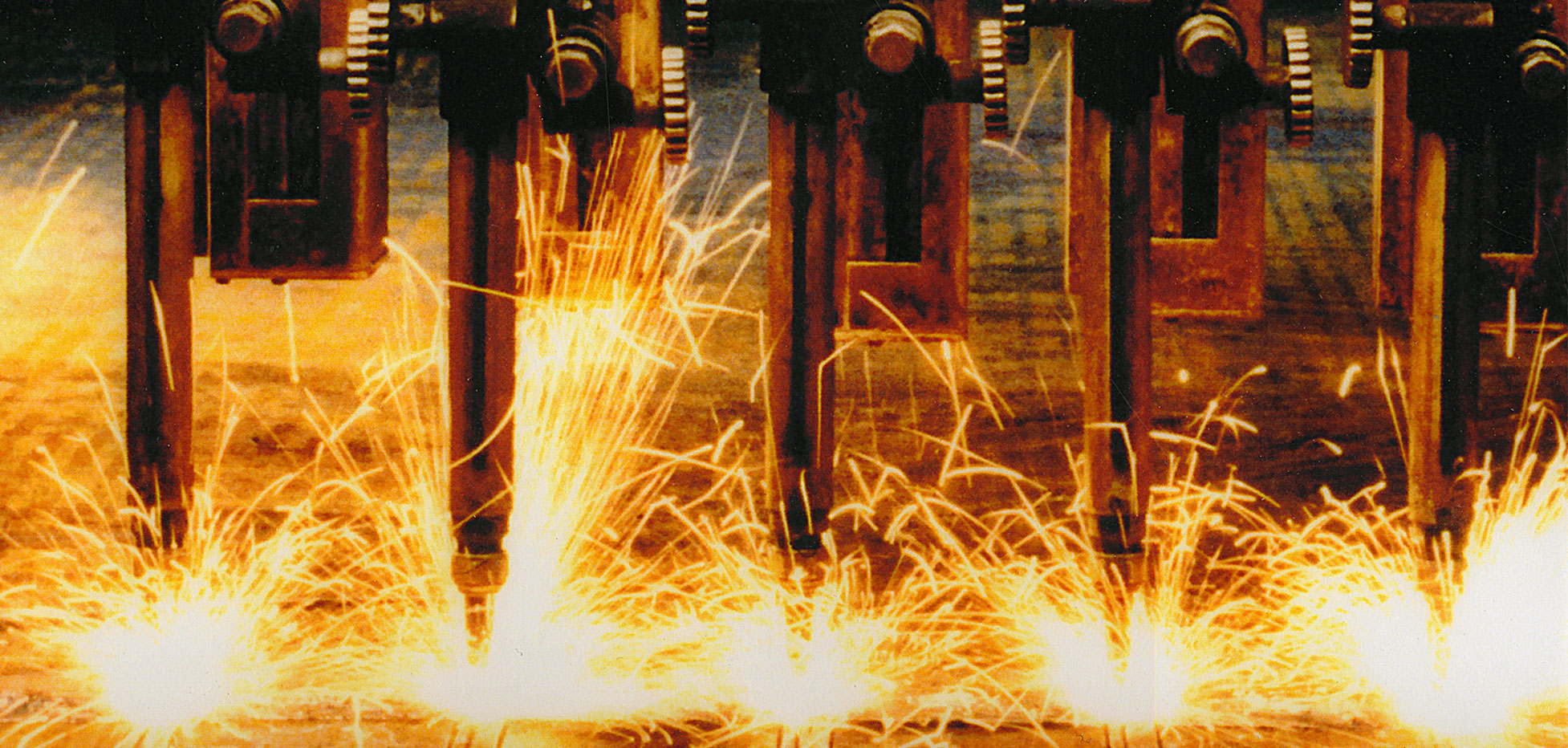 sparks at pacific steel and recycling center