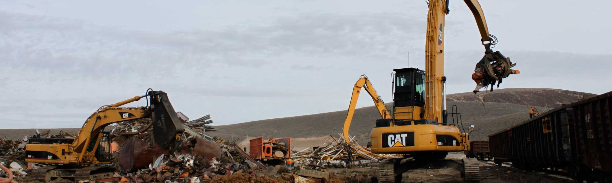 scrap metal recycling center being moved