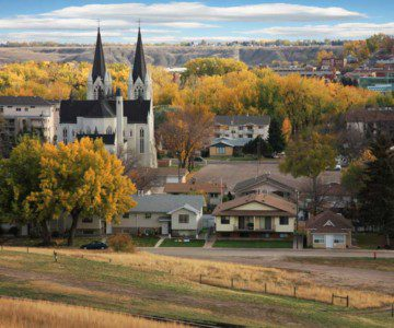Photo of a small town in Alberta, Canada
