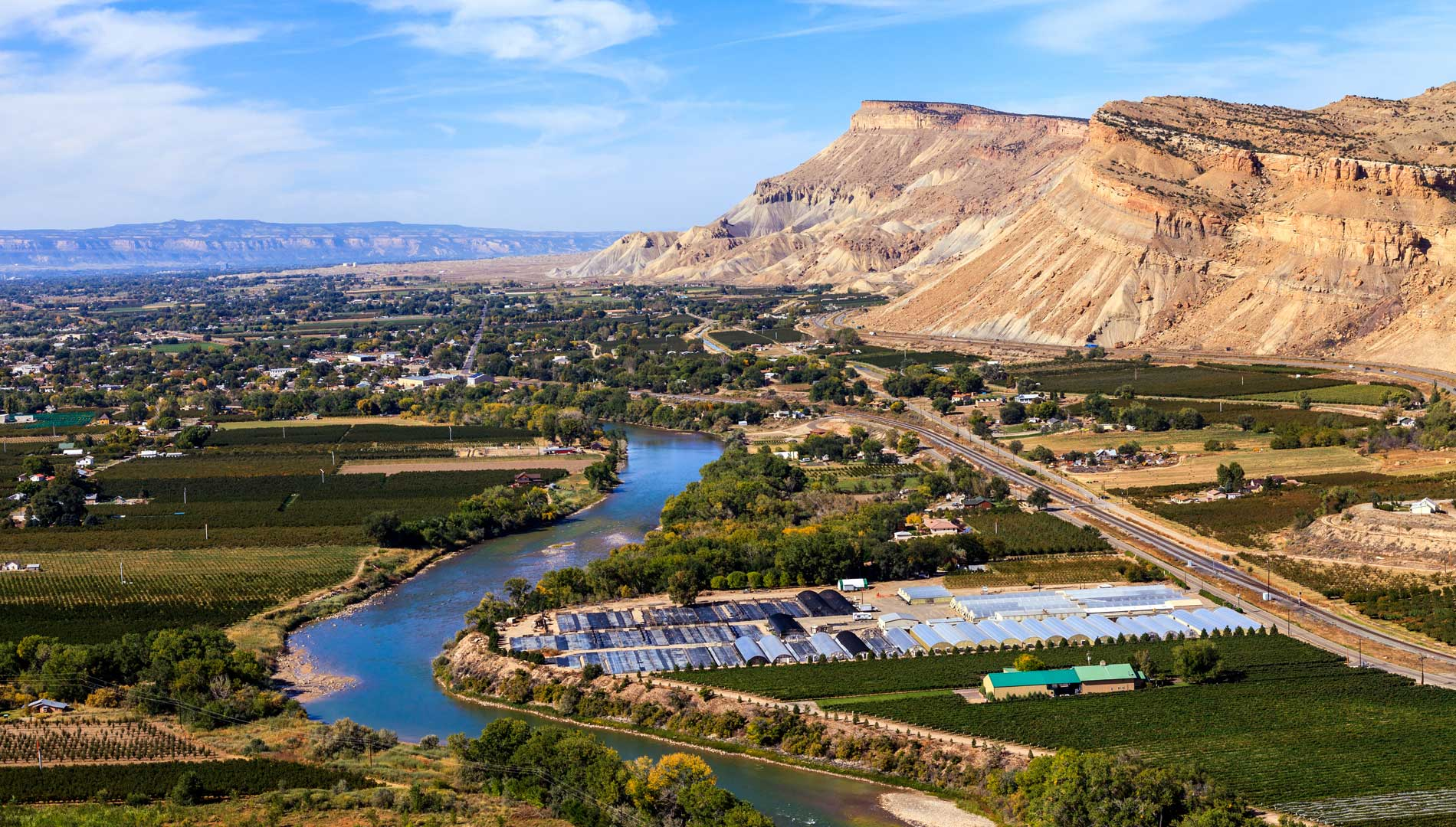 aerial view of Grand Junction in Colorado