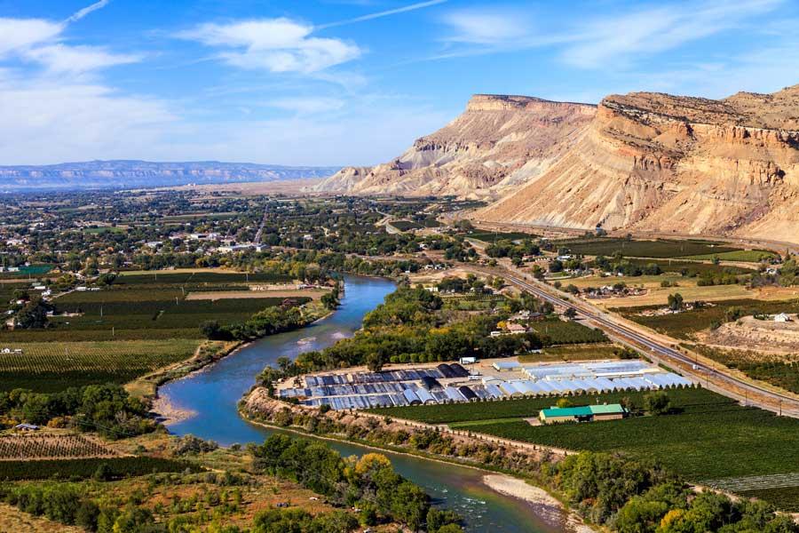 Bird's eye view of Grand Junction, Colorado