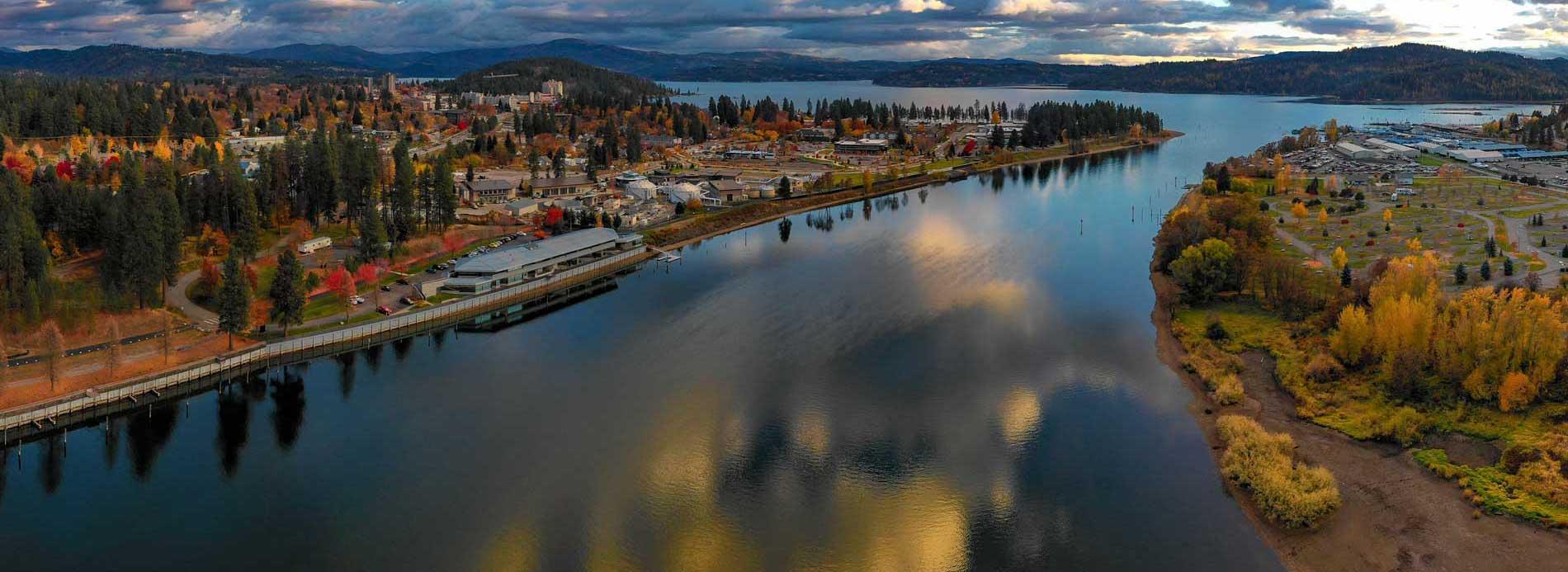 Coeur d'Alene next to Harrison Slough Lake