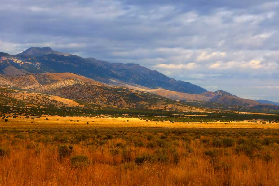 mountain behind field near mayfield idaho