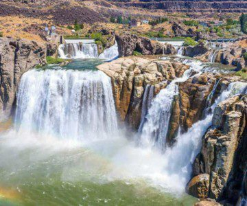 three waterfalls from twin falls idaho