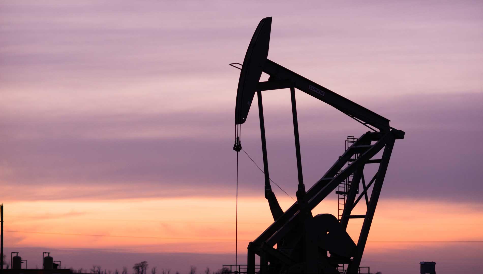 Oil drill in Williston, North Dakota