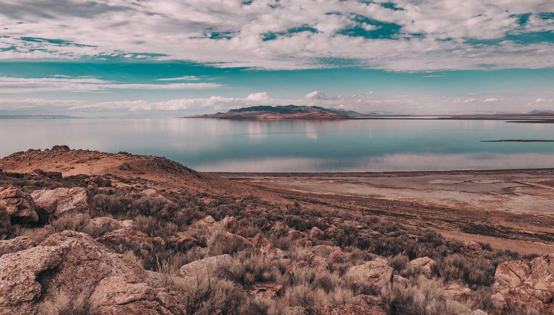 view of lake salt lake city utah