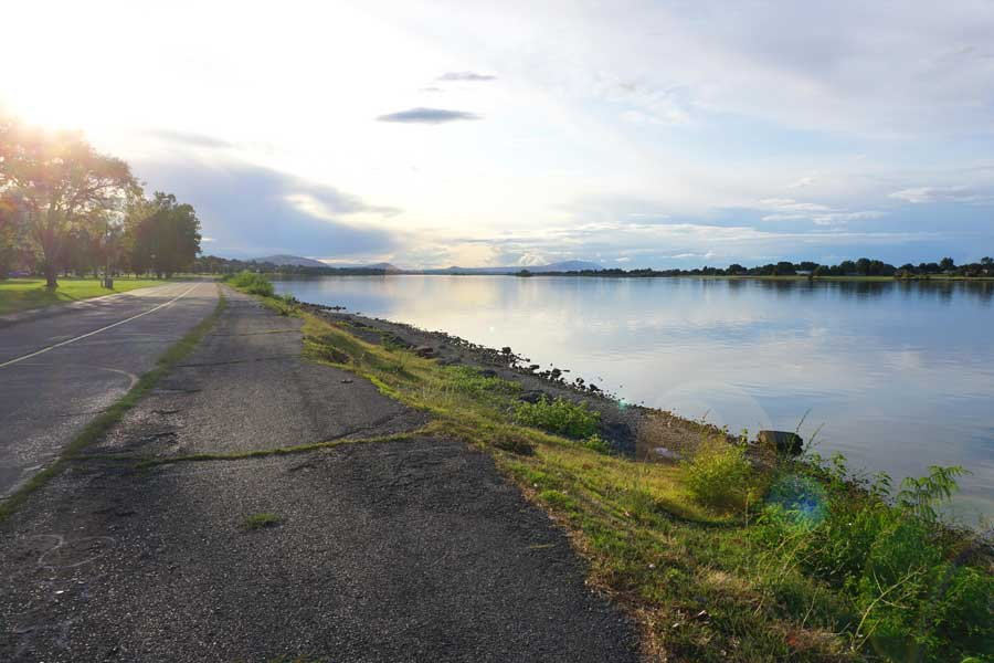 Bike trail in Kennewick, Washington