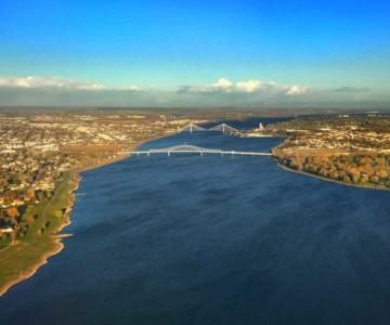 bird's eye view of Pasco, Washington