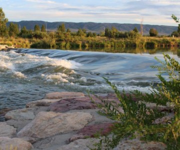 river flowing into Casper, Wyoming