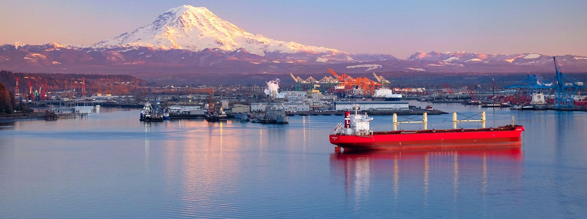 boats on dock outside of Tacoma, Washington